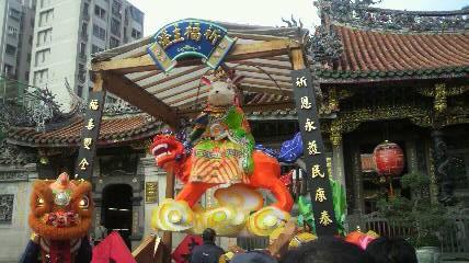 龍山寺飾り