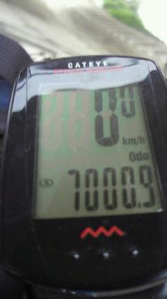 累計走行距離7000km