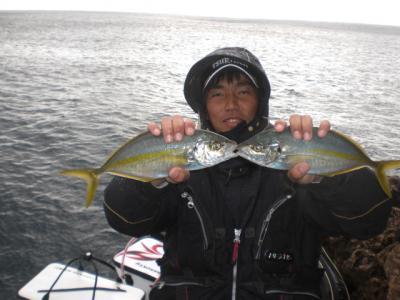 釣長シマアジ縮小