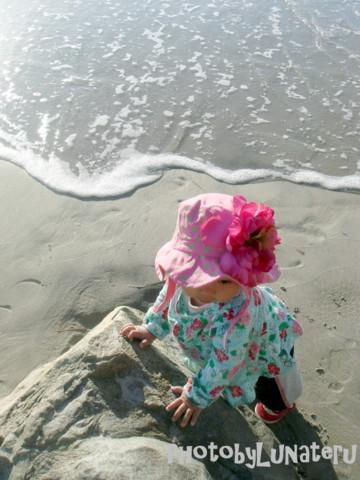 sunhat ピンクライム水辺