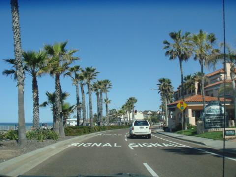 カールズバッドビーチ道路