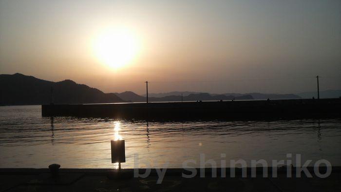落ノ浦の夕日
