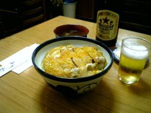 ミツワグリルカツ丼ビール中011