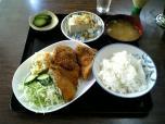 山田ホームレストラン本日の定食Bアジフライ005