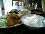 山田ホームレストラン本日の定食Bアジフライ006