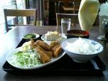 山田ホームレストラン本日の定食Bアジフライ007