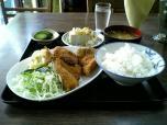 山田ホームレストラン本日の定食Bアジフライ008