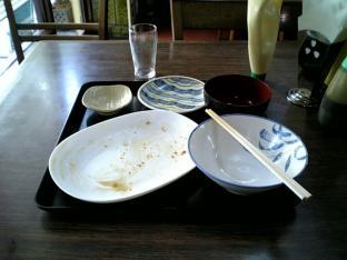 山田ホームレストラン本日の定食Bアジフライ009