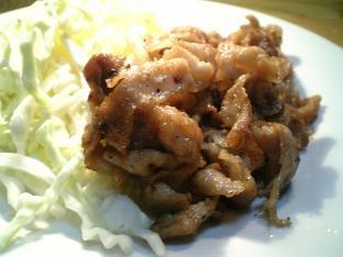極薄豚ばら肉の生姜焼き002