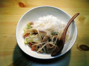 中華オイスターソース野菜炒め丼001