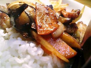 中華味野菜炒め丼002