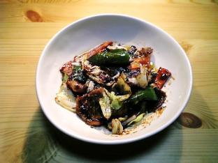 キャベツと豚肉の豆豉醤炒め001