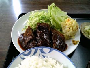 山田ホームレストラン本日の定食Aメンチカツ005