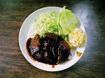 山田ホームレストラン本日の定食Aメンチカツ007