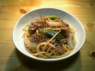 生姜焼きスパゲッティ001