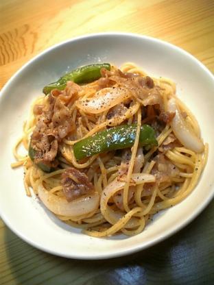 生姜焼きスパゲッティ003