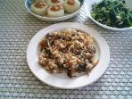混ぜご飯と柚子味噌大根と大根の葉005