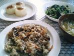 混ぜご飯と柚子味噌大根と大根の葉007
