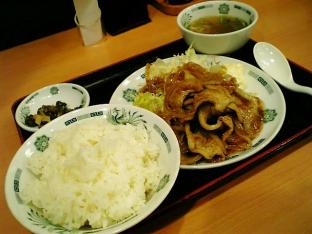 日高屋生姜焼き定食002