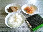 焼き豚、白魚、のり、ご飯001