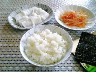 えんがわ、白魚、のり、ご飯001