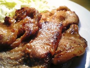 豚ロースの味噌漬け焼き003
