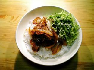 豚ばら焼き肉丼001