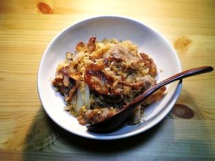 豚ばらと葱の焼肉焼き飯001