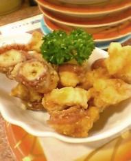 蛸の竜田揚げ丼のお話