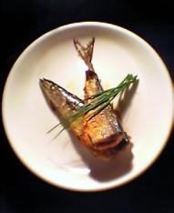 秋刀魚の明太子詰め焼き 定食001