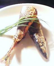 秋刀魚の明太子詰め焼き 定食002