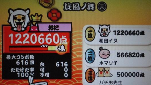 太達Wii決 旋風ノ舞裏 2011,11,28 全良