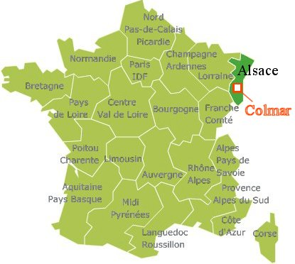 Colmarの場所