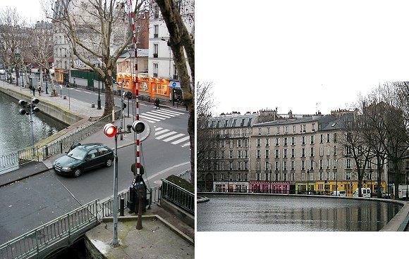 複合信号とパステルカラー建物