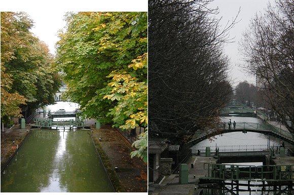 複合秋のサンマルタン運河