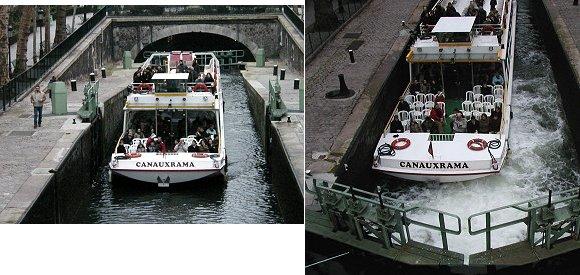 複合水門の観光船
