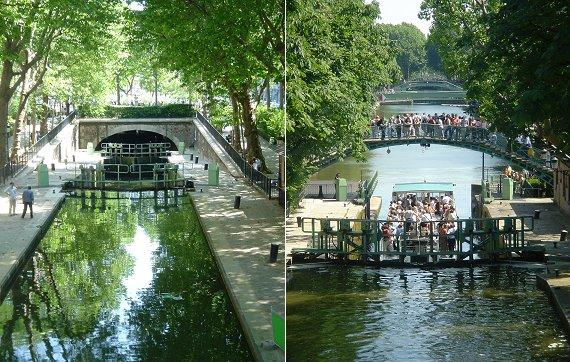 複合新緑のサンマルタン運河
