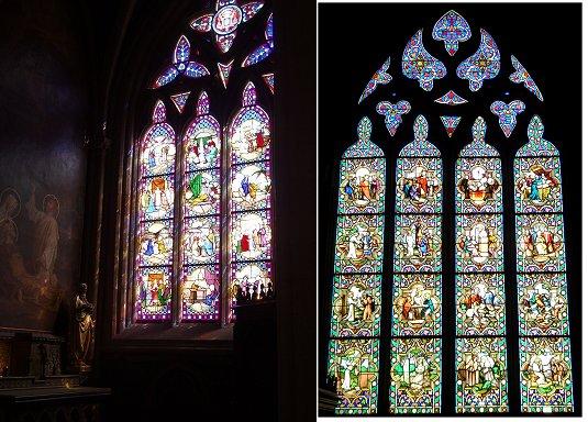 複合大聖堂のステンドグラス