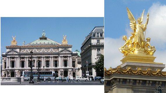 複合オペラ座の金色の女神たち