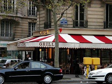 メトロCourcelles前のカフェdownsize