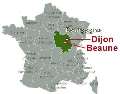 Beaune Dijon 地図