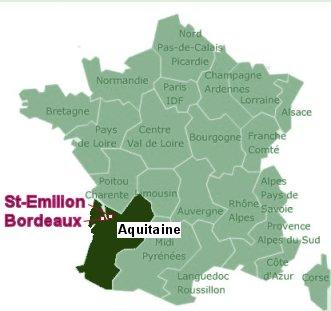 Bordeaux St Emilion 地図
