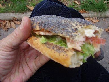 フランスパンのサンドイッチ例downsize