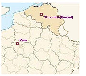 ブリュッセルの地図
