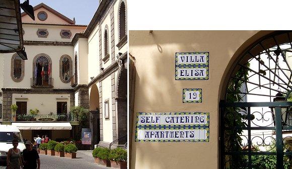 複合アーチと楕円の窓と飾りタイルの表札