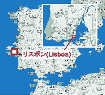 リスボンの地図