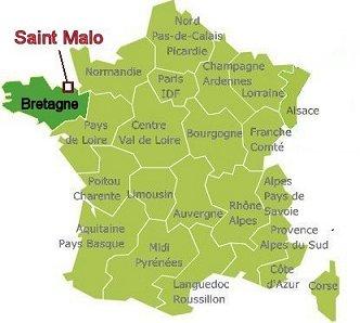 Saint Malo地図