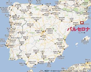 バルセロナの地図
