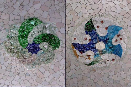 天井の色ガラスモザイクの装飾複合downsize