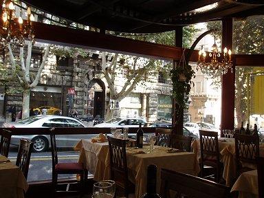 ヴェネト通りV VenetoのレストランConte di Galluccio downsize